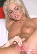 Hot platinum blonde in skirt sucking and fucking a dick from Blonde Bangers