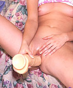 Shy girl fucks herself with big toy from Screaming O