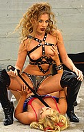 Brittney Skye being controlled by a bondage babe from Brittney Skye