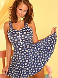 Raylene Richards playing with herself in a flower dress from Raylene Richards