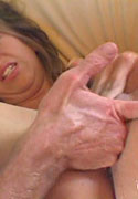 Kelly Kline enjoys her g spot stimulated and cum on her lips from Squirting 101