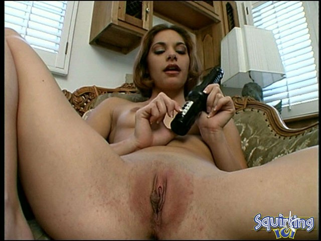Vibrator makes her squirt
