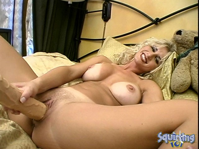 Tits masturbation till she squirts that asshole wide