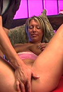 Hot blond fingered until she squirts from Squirting 101