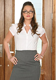 Seductive Secretary Tori Black Takes It All Off from Four Finger Club