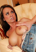 Holly West drilled on couch and gets messy facial from Jizz Bomb