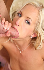Eden Adams Stuffs Her Mouth And Pussy With Cock from New Sensations