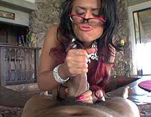 Eva Angelina strokes and sucks cock from POV Fantasy