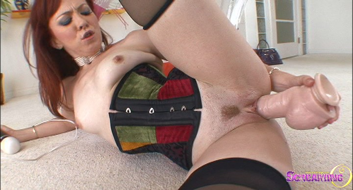 Hot hot redhead cums nonstop on bbc 5 stars
